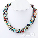 6-7mm multi stone necklace under $ 40
