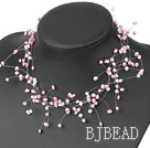 romantic 3-4mm starriness pearl bridal necklace