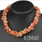 multi strand agate necklace
