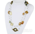assorted three colored jade long necklace