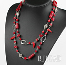 long style assorted coral necklace under $ 40