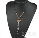 beautiful agate Y shaped necklace