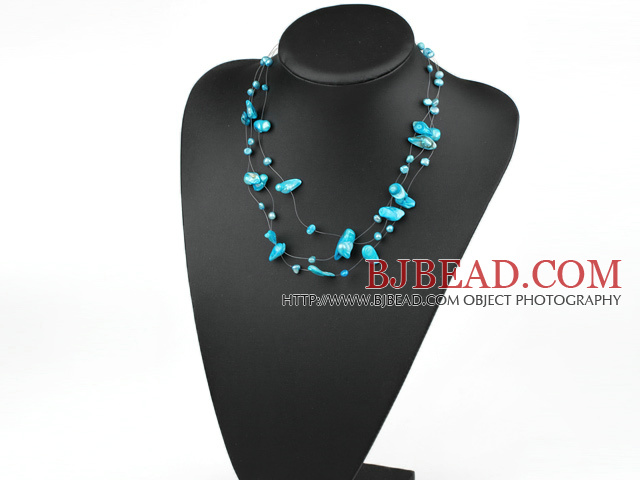 fantastic blue pearl necklace