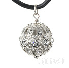 simple 20mm rhinestone ball stone pendant