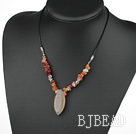 17.5 inches simple agate necklace with lobster clasp under $ 40