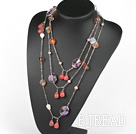 70.9 inches fashion long style pearl agate and crystal necklace under $ 40