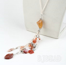 multi color agate necklace with lobster clasp