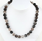 12mm round melt crystal necklace with moonlight clasp