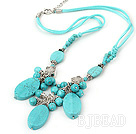 burst pattern turquoise necklace