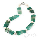 pearl green agate necklace
