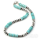 shell agate turquoise necklace