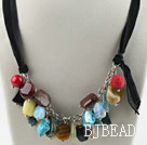 Sale Promotion: Assorted Multi Stone Necklace with Black Cord