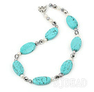 pearl crystal turquoise necklace under $12
