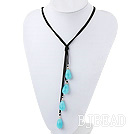 faceted blue jade necklace