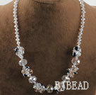 17.7 inches lovely crystal necklace with lobster clasp