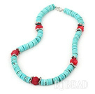 coral and turquoise necklace under $ 40