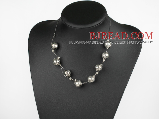 imitation silver necklace