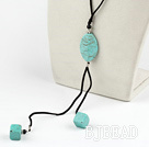 19.5 inches turquoise Y shaped necklace with lobster clasp