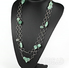 55.1 inches fashion long style aventurine necklace