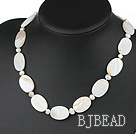favourite white pearl shell necklace with lobster clasp