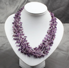 5-6mm Rice Shape Pink Purple Freshwater Pearl Necklace