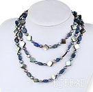 51 inches pearl and sodalite long style necklace under $ 40