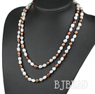 fashion long style 47.2 inches 9-10mm baroque pearl necklace under $100