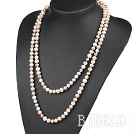 fashion long style 47.2 inches 8-9mm three color pearl necklace