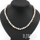 noble fashion 17.7 inches three color pearl necklace with moonlight clasp