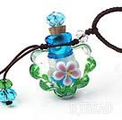 Simple Style Flower Shape Colored Glaze Perfume Bottle Pendant Necklace (Color Random and The Thread Can Be Adjusted) under $ 40