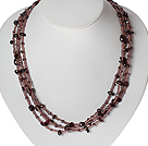 17.7 inches colored glaze agate and stone chips necklace with extendable chain
