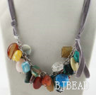 Sale Promotion: Assorted Multi Stone Necklace with Gray Cord
