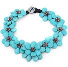 2013 Summer New Design Burst Pattern Turquoise Flower Party Ketting