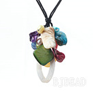 19.7 inches colorful shell necklace pendant