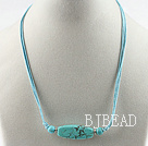 17.3 inches turquoise pendant necklace with extendable chain