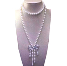 drop shape 12-18mm natural amethyst necklace with box clasp