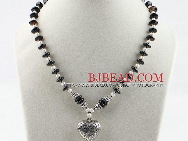 zapatos elegantes artesanía exquisita comprar Estilo sencillo blanco y un collar de perlas de agua dulce ...