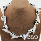 Pearl Crystal and White Jade Necklace