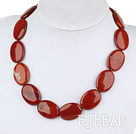 17.5 inches 20*30 red gem necklace with lobster clasp