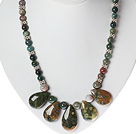 Classic Design Indian Agate Necklace