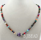 Assorted Round Multi Color Multi Stone Beaded Necklace under $ 40