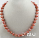 12mm A Grade Natural Sunstone Beaded Necklace under $30