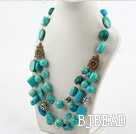 New Design Three Layer Assorted Turquoise Necklace