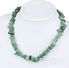 17.5 inches single strand aventurine necklace