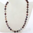 10mm A Grade Round Persian Agate Beaded Necklace