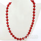 Classic Design 10mm Round Carnelian Agate Beaded Necklace under $ 40