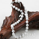 Classic Design 10mm Round Howlite Beaded Necklace