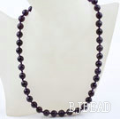 Classic Design 10mm Round Faceted Amethyst Beaded Necklace