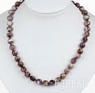 Classic Design 10mm Round Assorted Multi Color Amethyst Beaded Necklace
