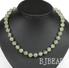 Classic Design 10mm Round Grape Stone Beaded Necklace